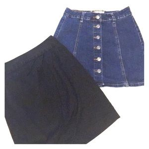 ☀️4 for $10 Denim skirt with buttons